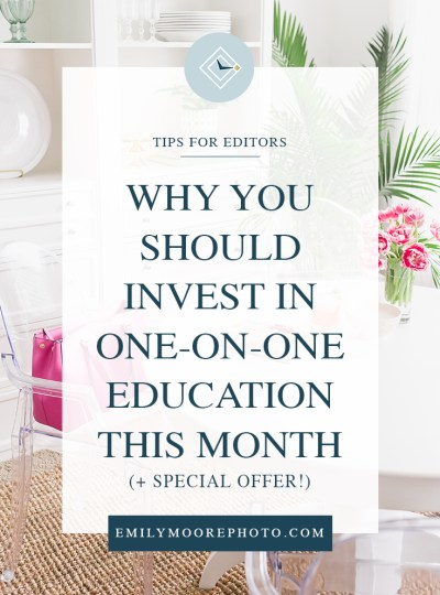 Why You Should Invest in One-on-One Education This Month (& special offer)