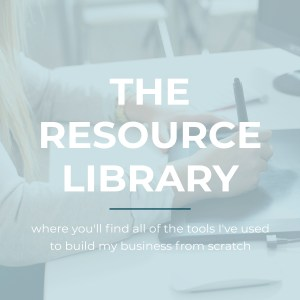 The Resource Library -- where you'll find all of the tools I've used to run my business | Emily Moore | Boutique Photo Editor