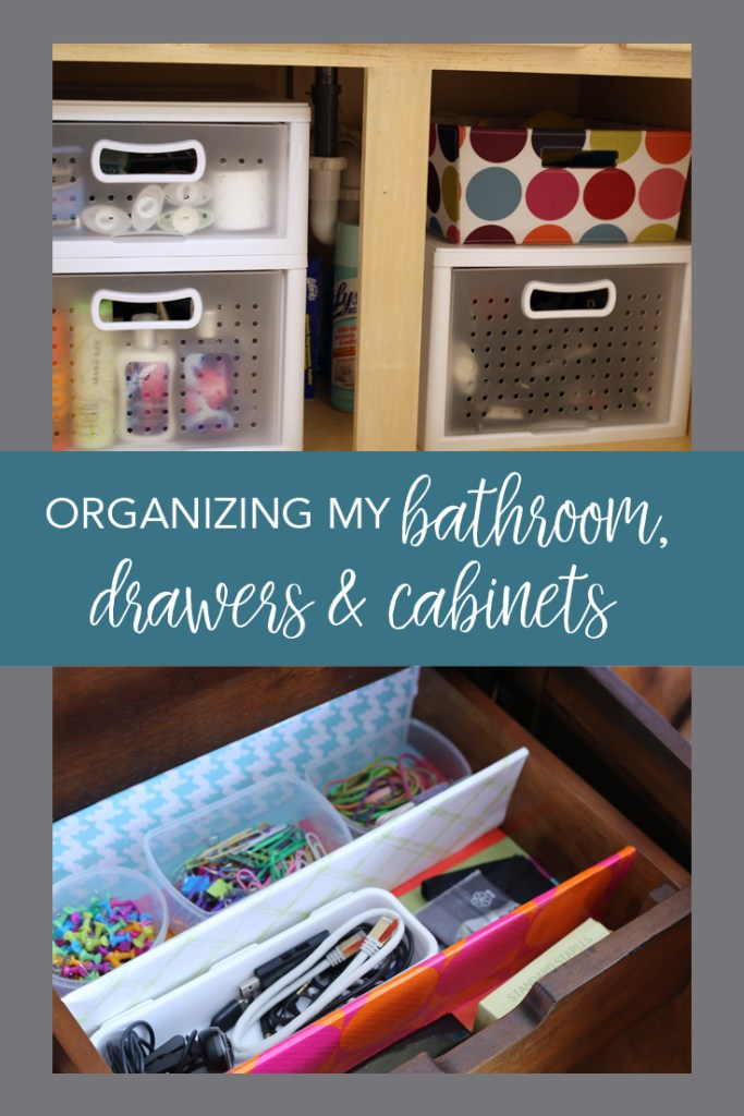 Organization ideas for your bathroom, drawers and cabinets