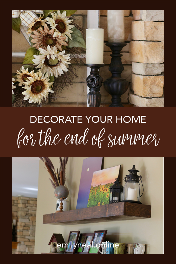 Decorate your home for the end of summer with sunflowers
