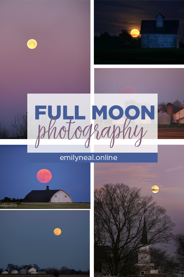 A year of full moon photography