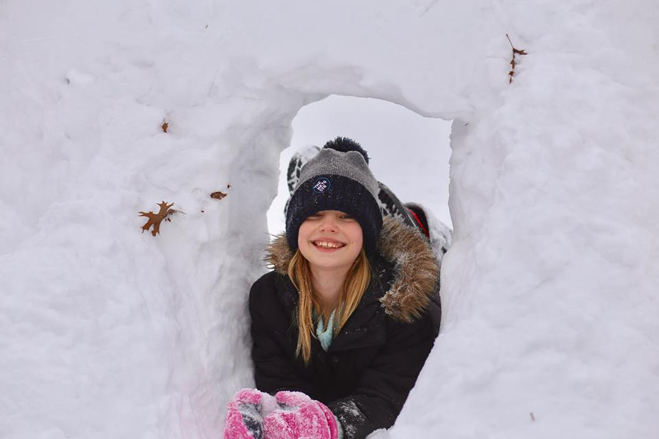 The kindness of a snow fort