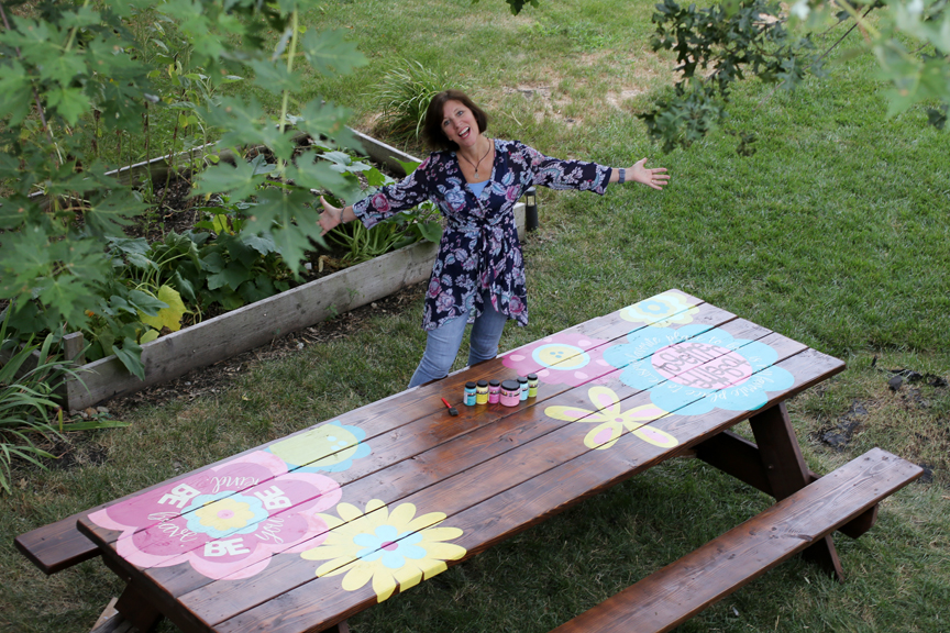Building community around a painted picnic table
