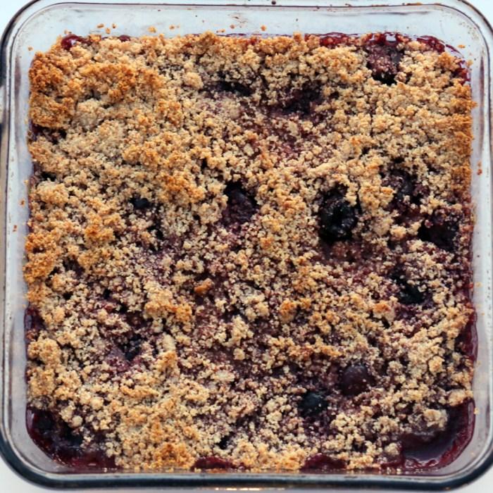 Paleo cherry cobbler grain free