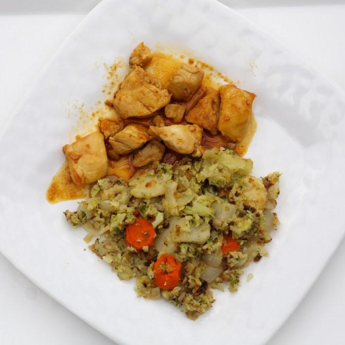 Veggie fried cauliflower rice