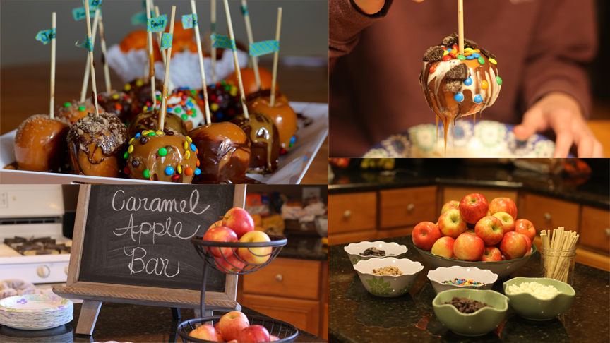 Create a caramel apple bar