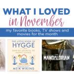 What I loved in November