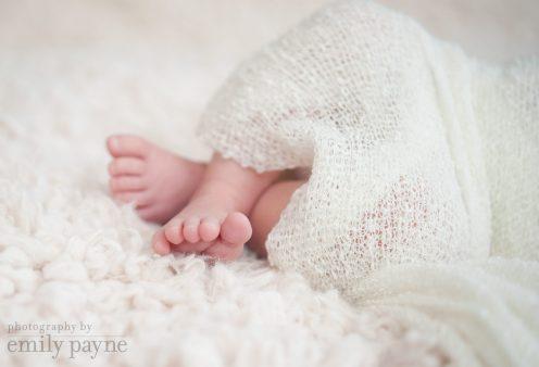 Newborn toes.