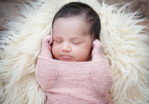 Newborn swaddle.