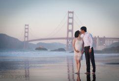San Francisco couple's maternity photography, Golden Gate bridge