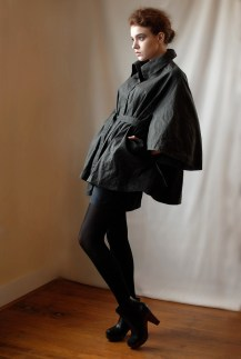 Waxed Cotton Cape Coat