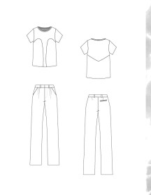 Organic Cotton +Tencel Paneled T-Shirt and Tencel Twill Trousers