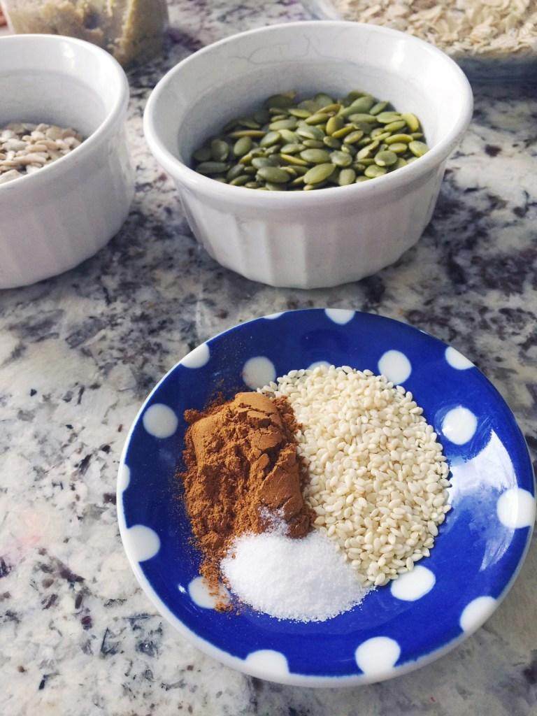 Sesame seeds add calcium to granola bars