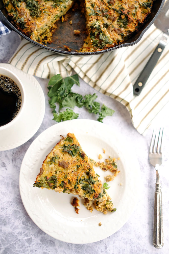 Spring Paleo meal plan with paleo sweet potato quiche