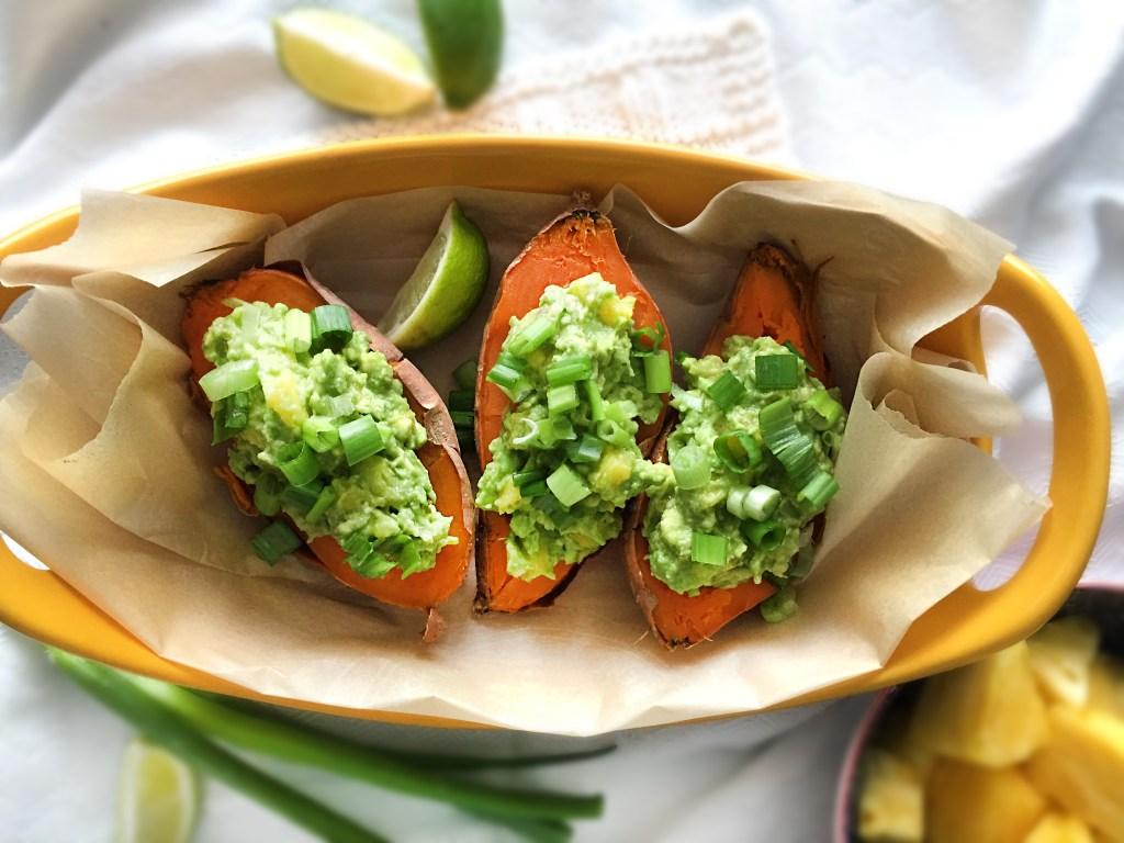 Eating for Great Digestion. Sweet potatoes avocado