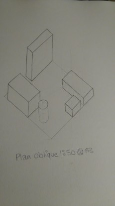 Plan oblique room plan