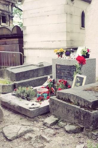 Jim Morrison's grave- fenced off and under 24hr police surveillance...
