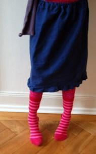 Linen Skirt with Ruffle Edge