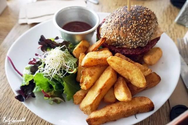 Vegan burger Campbell's Canal Cafe