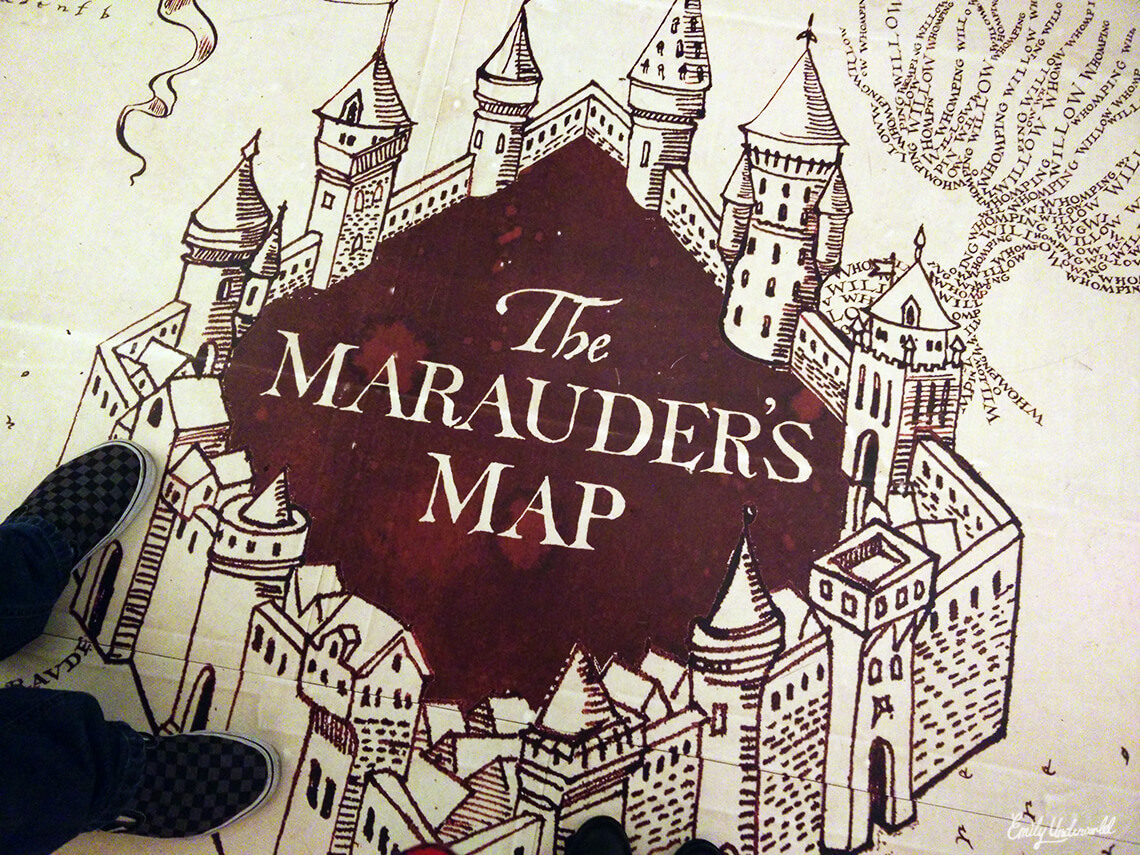 They even had a giant Marauder's Map printed on the floor!