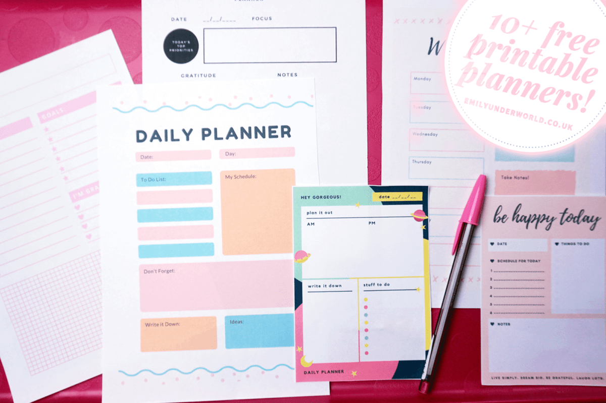 10 Free Printable Planners