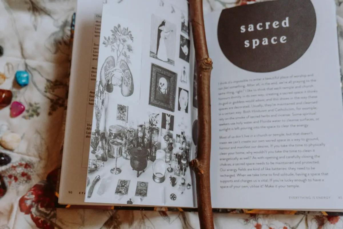 Inside Craft by Gabriela Herstik, a witchcraft book.