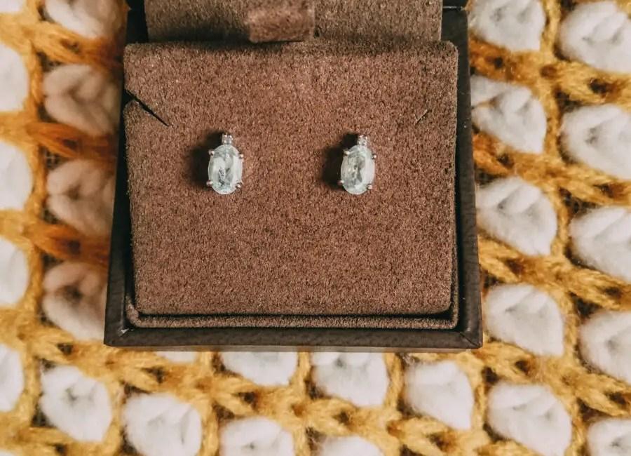 Browns Jewellers RBrowns Jewellers Rosa Mer Aquamarine and Diamond Earringsosa Mer Aquamarine and Diamond Earrings
