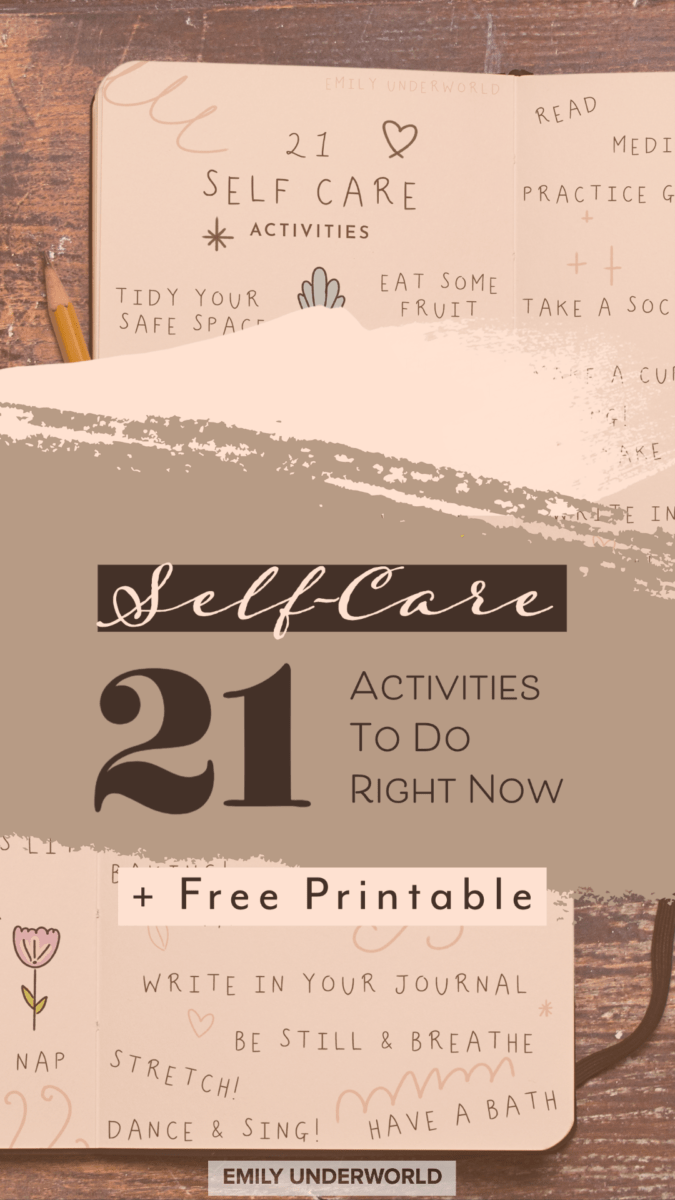 21 Self Care Activities Printable