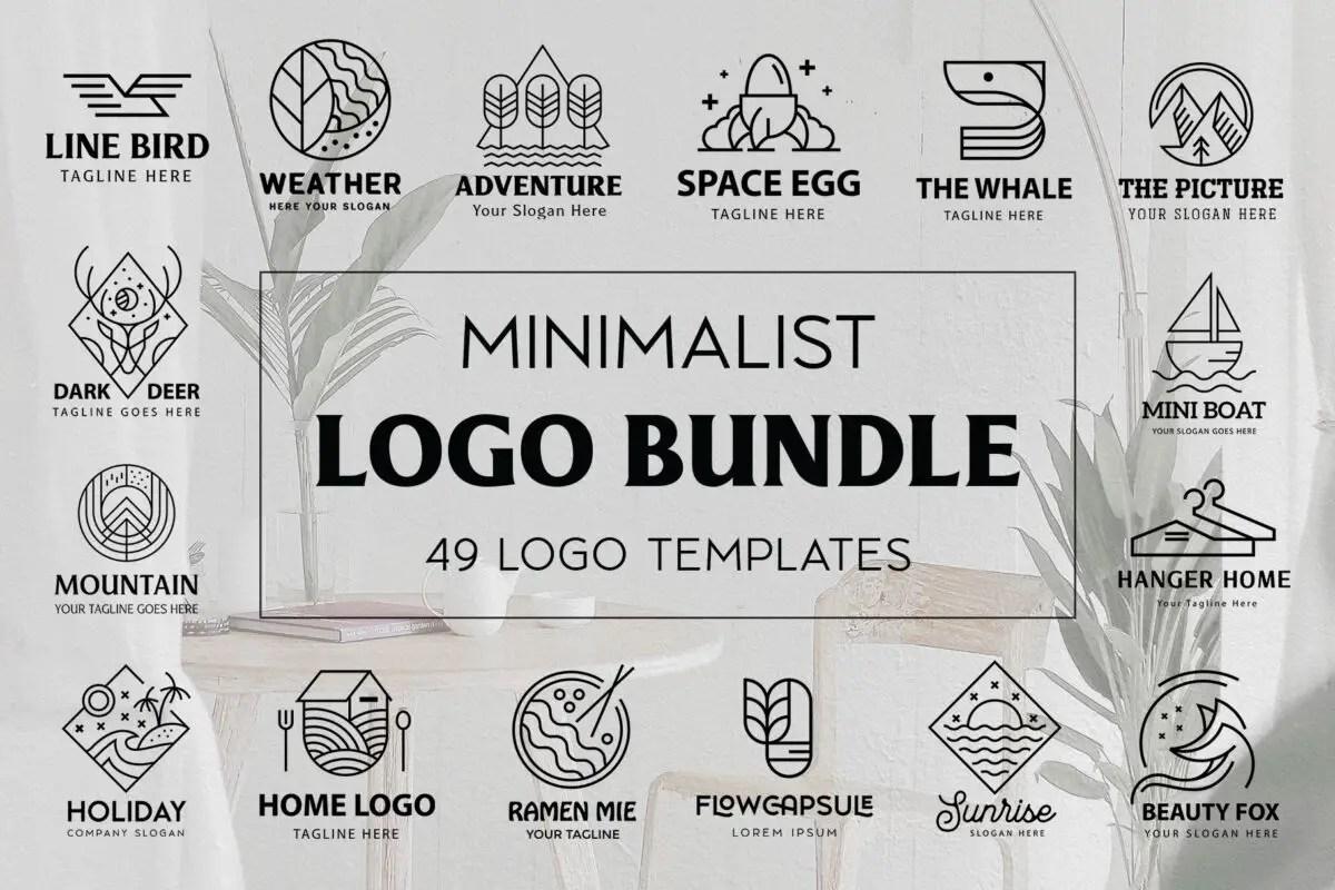 An example of minimalist logo mock ups.