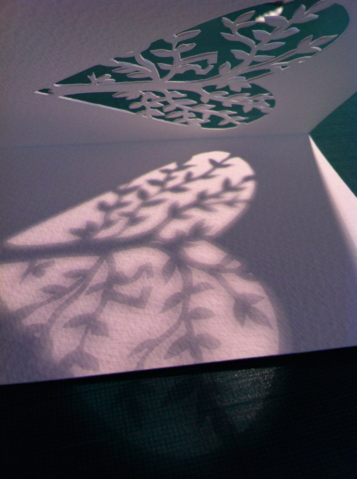 Hand Cut Illustrations For Christmas Cards 2013