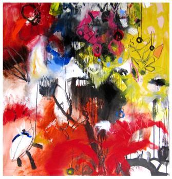 """acrylic, pencil on canvas   60"""" x 58""""   $4524"""