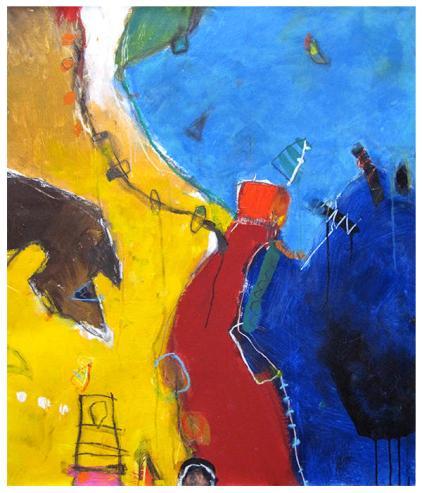 """acrylic on canvas   39"""" x 33""""   $1675"""