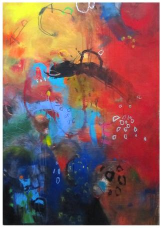 """acrylic on canvas   50"""" x 35""""   $2500 (stretched)"""