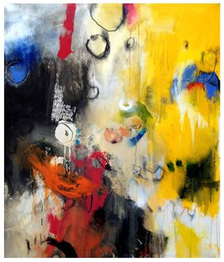 """acrylic on canvas   50""""h x 38""""w   SOLD"""