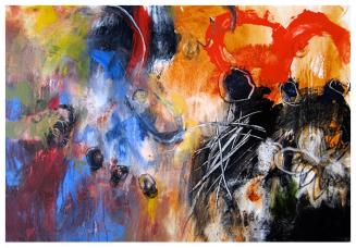 """acrylic on canvas   46"""" x 54""""   $3225"""