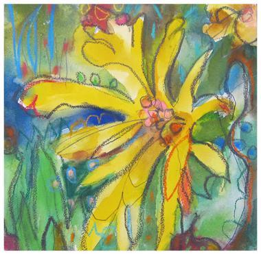 "watercolor, pencil, pastel on aquaboard | 8"" x 8"" | SOLD"