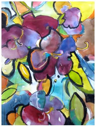 "watercolor, pastel on paper | 30"" x 40"" 