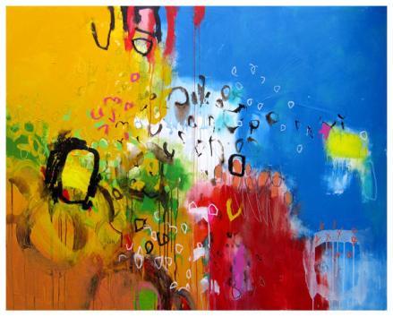 """acrylic on canvas   53"""" x 68""""   $4690"""