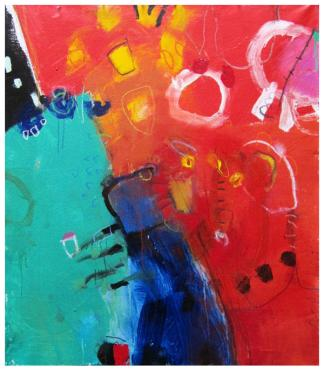 "acrylic on canvas   46""h x 40""w   $2395 (no canvas edge)"