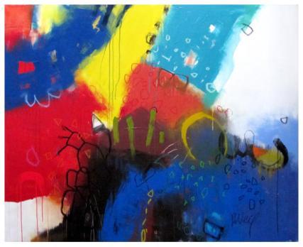 """acrylic, pencil on canvas   53"""" x 65""""   $4475"""