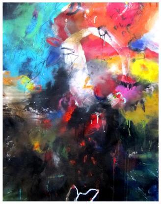 "acrylic on canvas | 46""h x 35.5""w | $2125 (no canvas edge)"