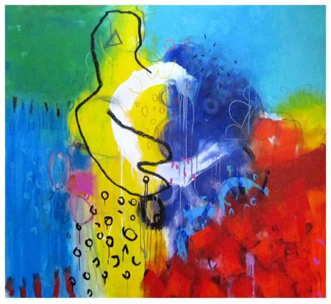 """acrylic on canvas   65"""" x 70""""   $5900"""