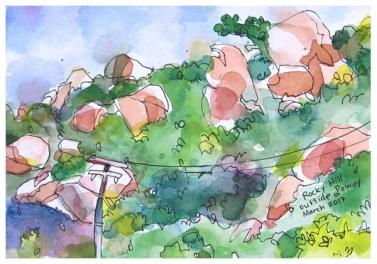 """watercolor, ink on paper   7"""" x 10""""   SOLD"""
