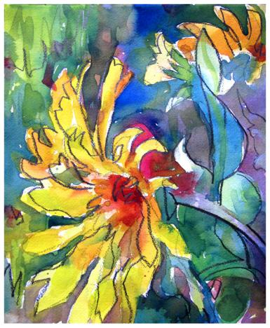 """watercolor, pencil on paper   11"""" x 9.25""""   $75   SOLD   giclee available $35"""