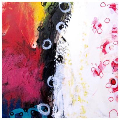 "acrylic, oil pastel on clayboard | 10"" x 10"" | $130"