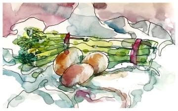 """watercolor, pen on paper   5.5"""" x 8.5   SOLD"""