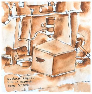 barge machinery