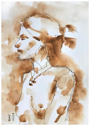 "artgraf graphite, pen on paper | 10"" x 7"" | $90"
