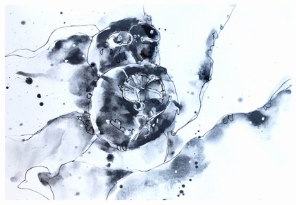 "artgraf graphite, pen on paper   7"" x 10""   $90"