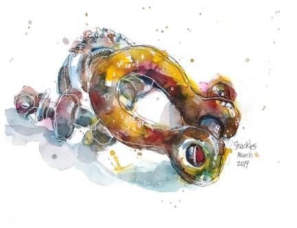 "watercolor, pen on paper   12"" x 9""   $140"